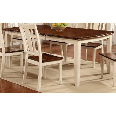 White U0026 Cherry Dining Table   Dover Collection