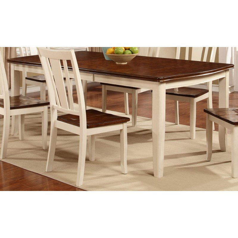 white & cherry dining table - dover collection | rc willey furniture Cherry Dining Table