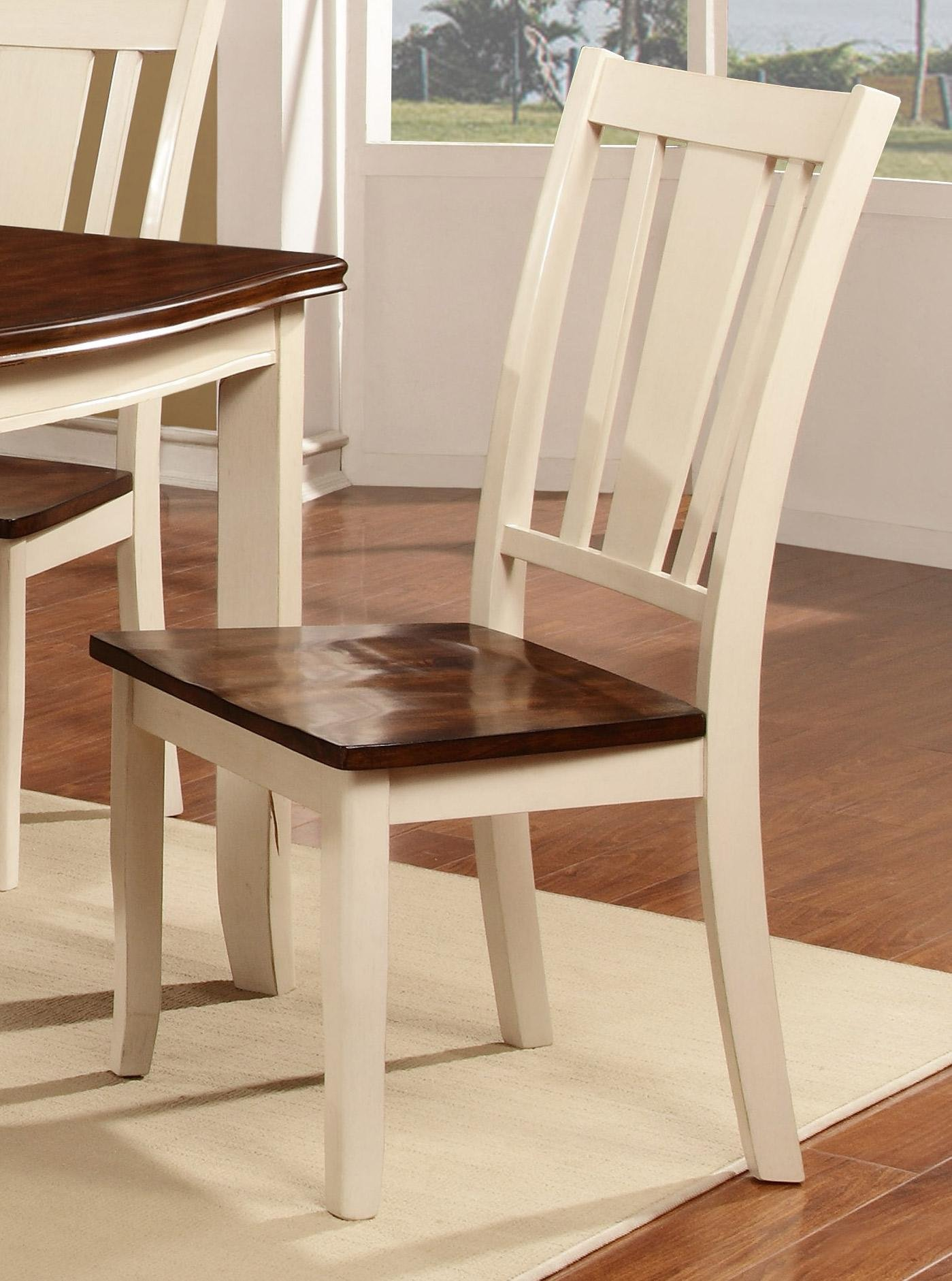 Dover White U0026 Cherry Dining Room Chair