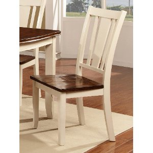 ... Dover White U0026 Cherry Dining Room Chair