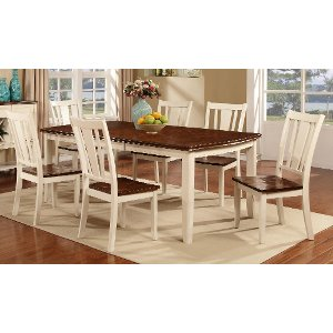 ... White U0026 Cherry 5 Piece Dining Set   Dover
