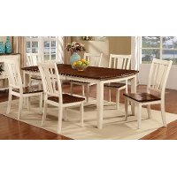 White & Cherry 5 Piece Dining Set - Dover
