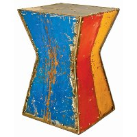 Multi Color Hourglass Moonshine Side Table