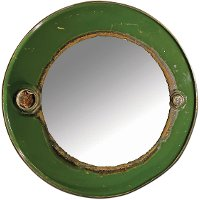 Steam Punk Green Barrel Mirror