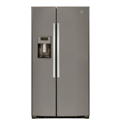 GSE25HMHES GE ENERGY STAR 25.3 Cu. Ft. Side-By-Side Refrigerator - Slate