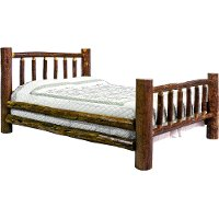 MWGCFB Log Full Size Bed - Glacier Country