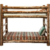 MWGCBBN Log Twin-over-Twin Bunk Bed - Glacier Country