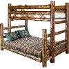 MWGCBBTFN Natural Log Twin-over-Full Bunk Bed - Glacier Country