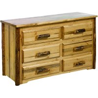 MWGC6D 6-Drawer Double Dresser - Glacier Country