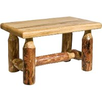MWGCFS Rustic Log Stool - Glacier Country