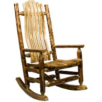 MWGCLR Log Rocking Chair - Glacier Country