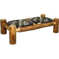 MWGCDF Large Log Pet Feeder - Glacier Country