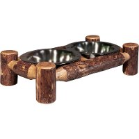 MWGCDFS Small Log Pet Feeder - Glacier Country
