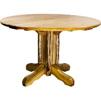 MWGCPT Pedestal Dining Table - Glacier Country