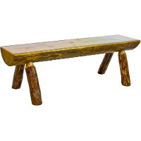 MWGCHLB6 Half Log 6 Foot Bench - Glacier Country