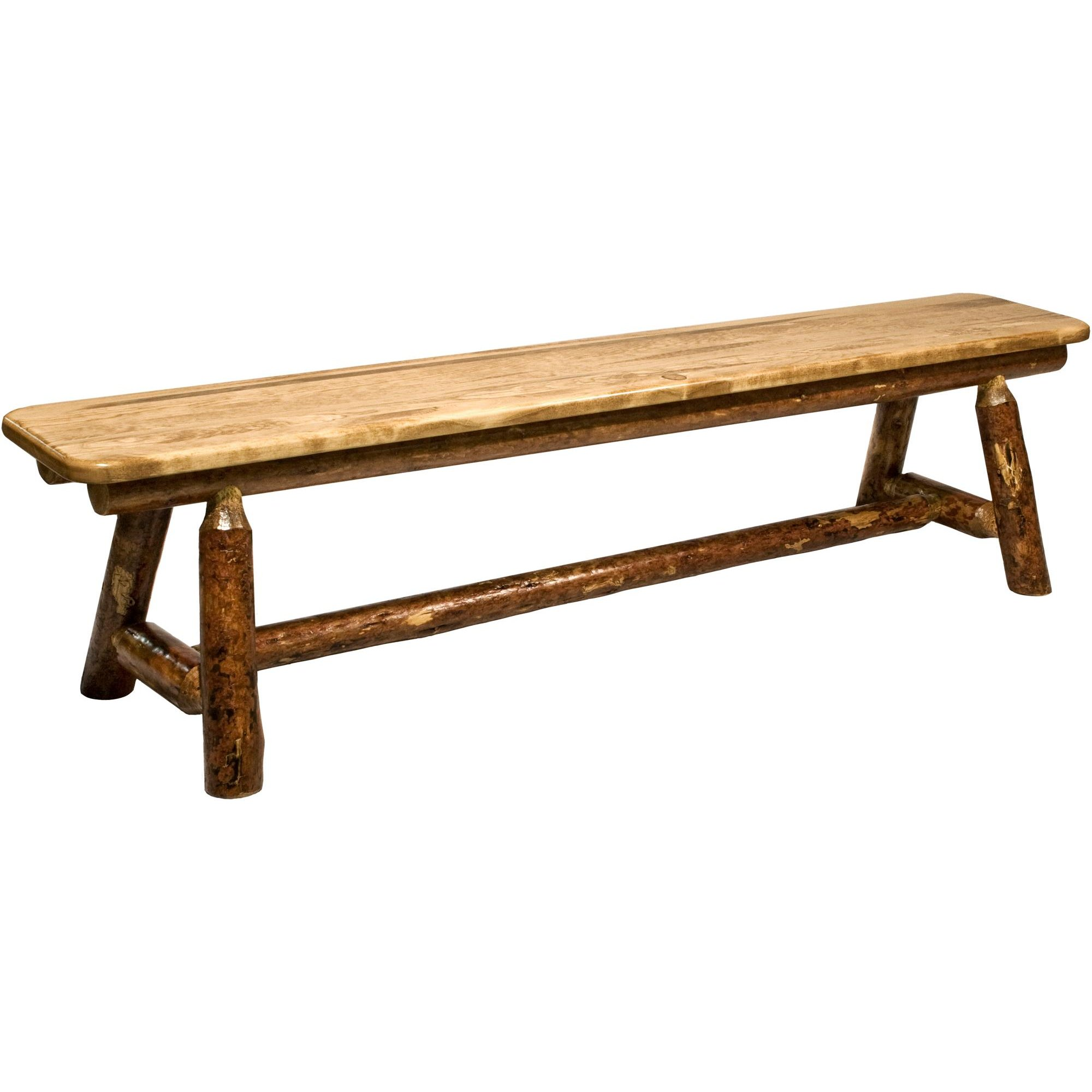 Plank Style Bench 6 Foot Glacier Country