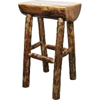 MWGCBNHL Half Log Bar Stool - Glacier Country