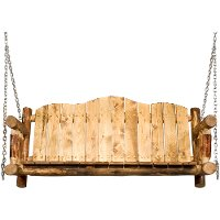 MWGCLSC Log Porch Swing - Glacier Country