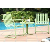 KO10007GR 3 Piece Metal Outdoor Conversation Seating Set - Gracie