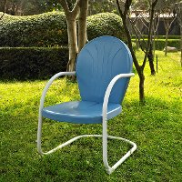 CO1001A-BL Metal Chair in Sky Blue - Griffith