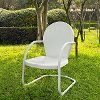 CO1001A-WH Metal Chair in White - Griffith