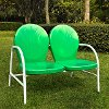 CO1002A-GR Metal Loveseat in Grasshopper Green - Griffith