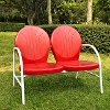 CO1002A-RE Metal Loveseat in Red - Griffith