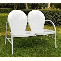 CO1002A-WH Metal Loveseat in White - Griffith