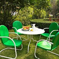 KOD1001WH Green 5 Piece Metal Outdoor Dining Set - Griffith