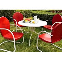 KOD1003WH 5 Piece Metal Outdoor Dining Set - Griffith