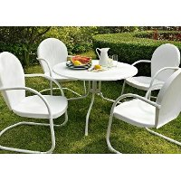 KOD1004WH 5 Piece Metal Outdoor Dining Set - Griffith
