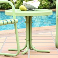CO1011A-GR Metal Green Outdoor Patio Side Table - Retro