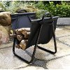 CO9102A-BK Firewood Carrier - Logan