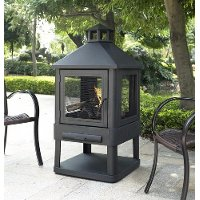 CO9001A-BK Contemporary Outdoor Fire Pit - Monticello