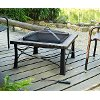 CO9006A-BK Square Slate Firepit - Firestone