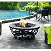 CO9007A-BK Slate Round Outdoor Fire Pit - Glendale