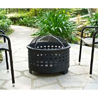 CO9009A-BK Basket Weave Outdoor Fire Pit - Hudson