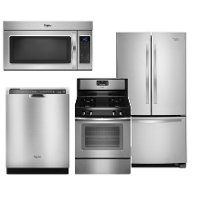 WHP-4PC-GAS-FRNCHDR Whirlpool 4 Piece Gas Kitchen Appliance