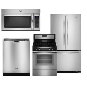 Whp 4pc Gas Frnchdr Whirlpool 4 Piece Gas Kitchen Appliance