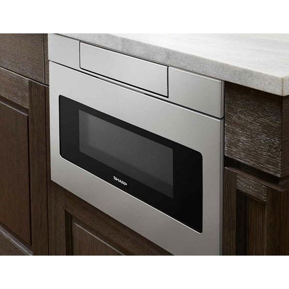 Sharp 24 Inch Microwave Drawer Stainless Steel Rc Willey Furniture