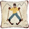 Just Learning to Ski 18 Inch Throw Pillow