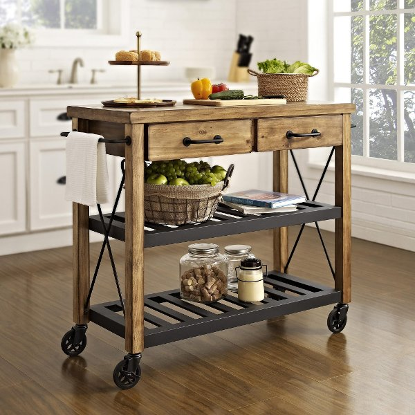 ... Island249995 CF3008 NA Industrial Kitchen Cart Rack   Roots