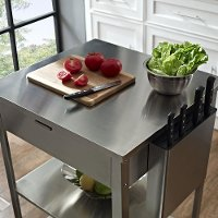 Stainless Steel Culinary Prep Kitchen Cart Rc Willey
