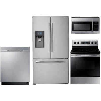 Medium image of ss 4pc sugap elekt samsung 4 piece stainless steel appliance package
