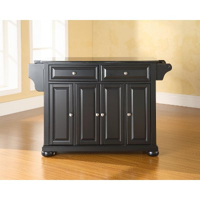 large crosley island cheap portable rolling size cart of center top solid black cabinets kitchen full granite