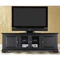 KF10005ABK Black 60 Inch Low Profile TV Stand - Alexandria