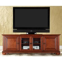 KF10005ACH Cherry 60 Inch Low Profile TV Stand - Alexandria