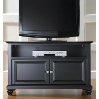 KF10003DBK Black 42 Inch TV Stand - Cambridge