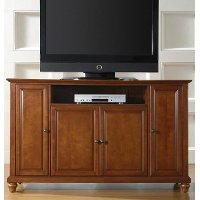 KF10001DCH Cherry 60 Inch TV Stand - Cambridge
