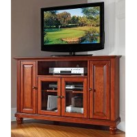 KF10006DCH Cherry 48 Inch Corner TV Stand - Cambridge